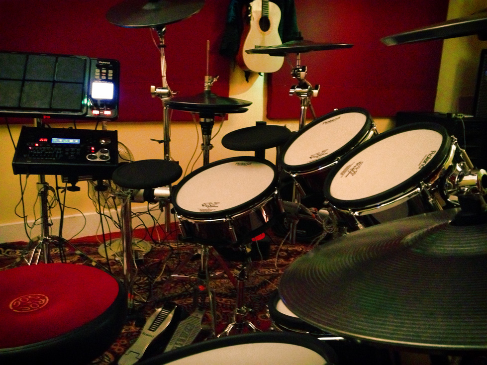 hedge s new drum set up the roland td 30kv tribazik. Black Bedroom Furniture Sets. Home Design Ideas